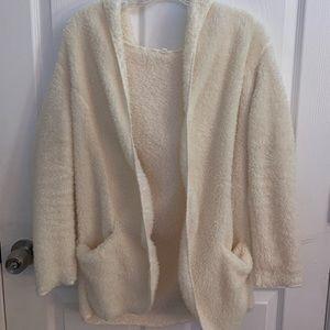 Cream/ White Bear Coat from Zaful